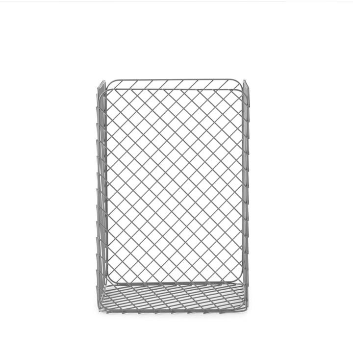 Normann Copenhagen - Track Basket, 33 x 33 x H 49 cm, Grey