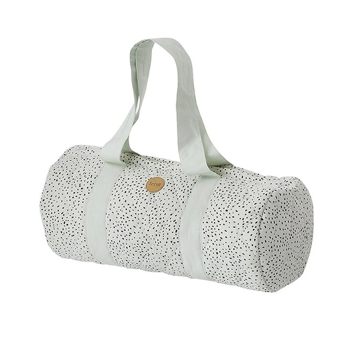 ferm Living - Duffel Bag, mint dot