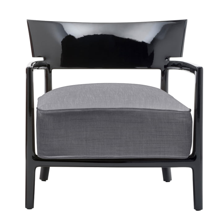 Kartell - Cara Armchair, Black Frame / Anthracite Cover