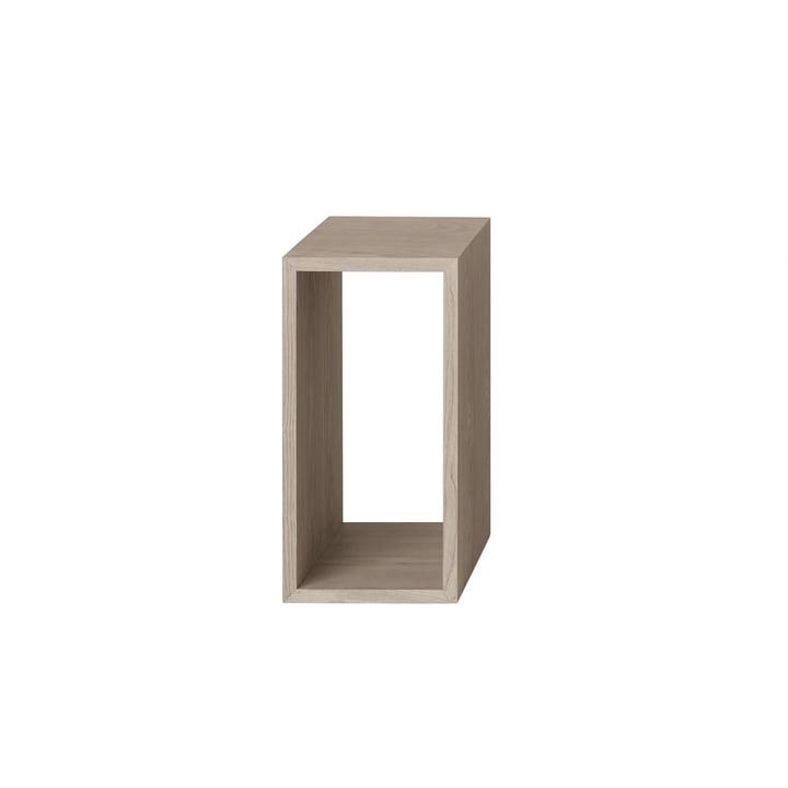 Muuto - Stacked shelf module 2. 0 without rear panel, small / oak