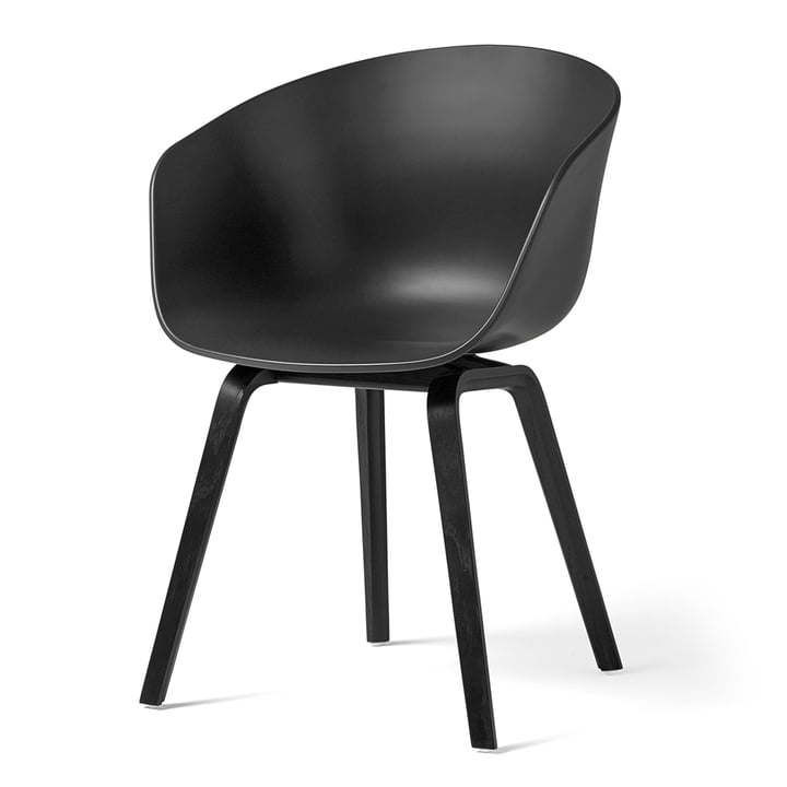 About A Chair AAC 22 by Hay in oak black stained / soft black