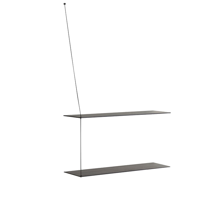 Woud - Stedge Wall shelf, black