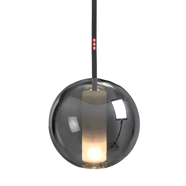 Moon Pendant luminaire 125 from NUD Collection in space / asphalt (TT-061)