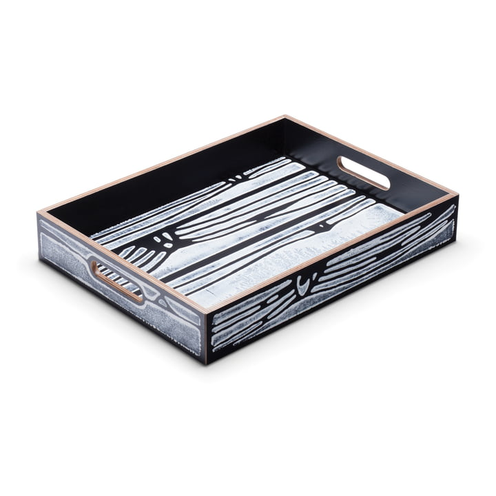 Established & Sons - Wrongwoods Tray, white / black