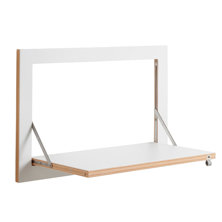 Ambivalenz - Fläpps Leaning Shelf, 60 x 40 cm, 1 shelf, white