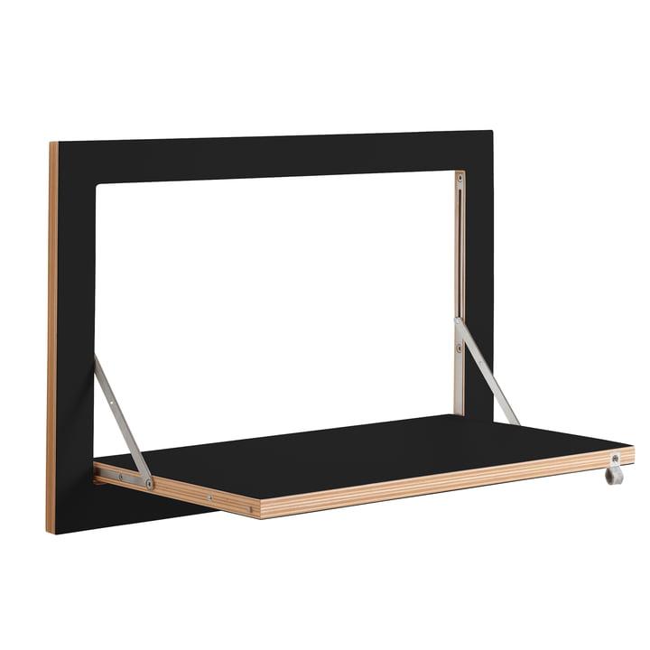 Ambivalenz - Fläpps Leaning Shelf, 60 x 40 cm, 1 shelf, black