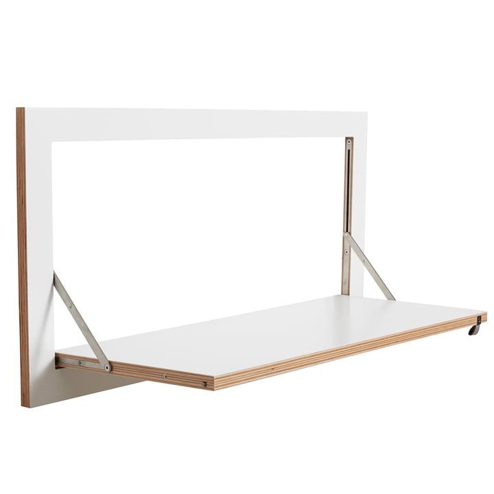 Ambivalenz - Fläpps Leaning Shelf, 80 x 40 cm, 1 shelf, white
