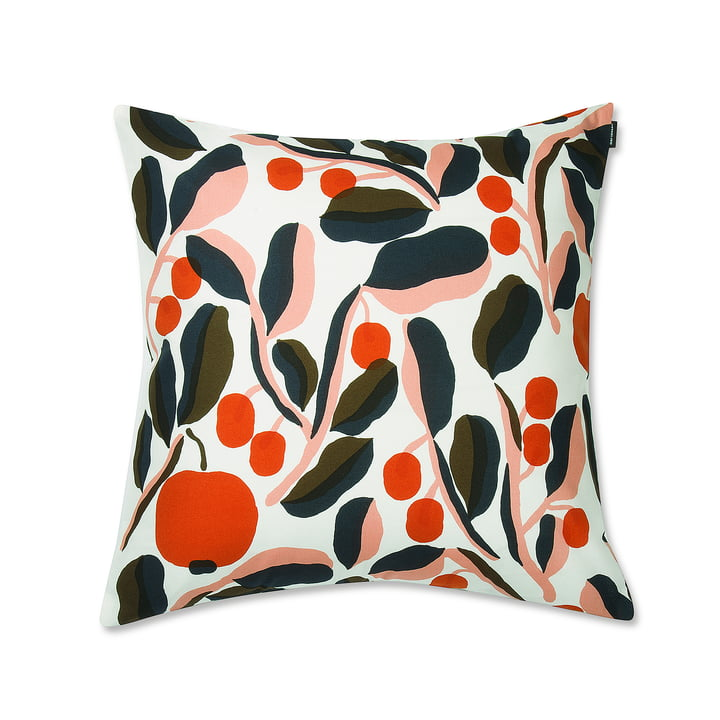 Jaspi Cushion Cover by Marimekko with Fruits and Leaves