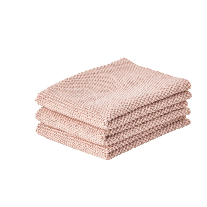 The Zone Denmark - Cleaning cloth, 27 x 27 cm, nude (set of 3)