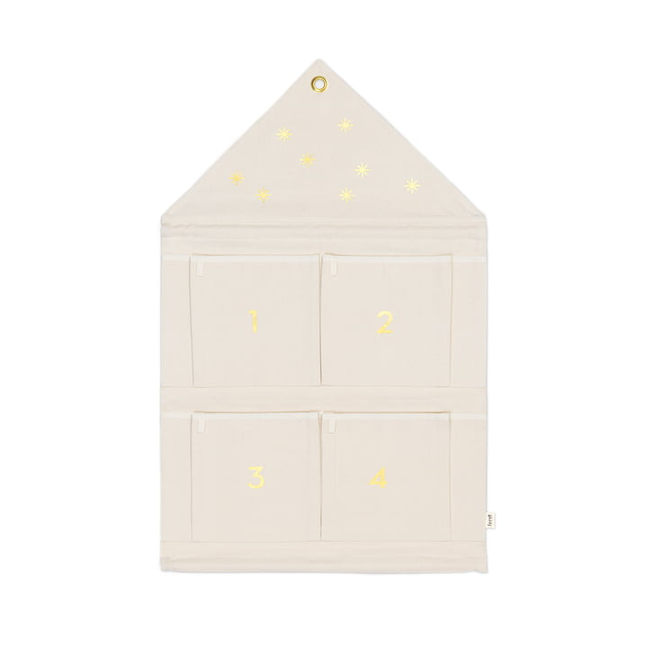 ferm Living - House Advent calendar, offwhite