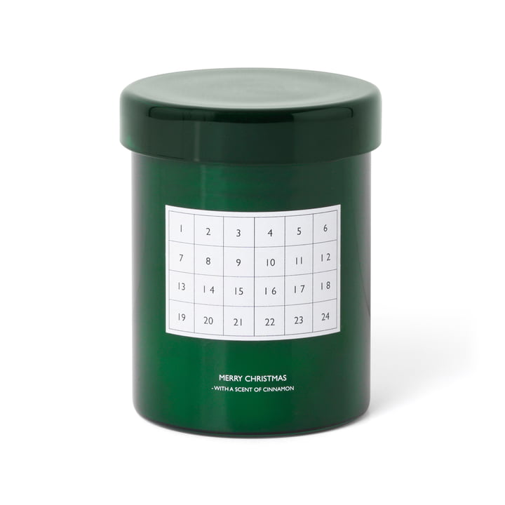 ferm Living - scented candle advent calendar, green