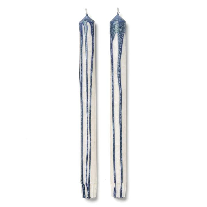 ferm Living - Duo Candles, Dark Blue