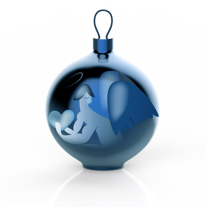 The Alessi - Blue Christmas Christmas Baubles, angel