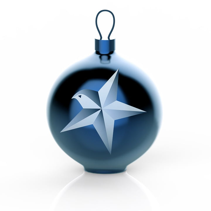 Alessi - Blue Christmas Christmas Baubles, Star