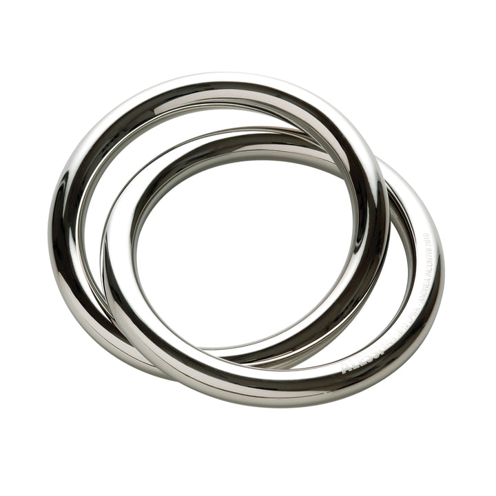 Alessi - Oui Napkin Ring, Ø 6 cm / Stainless steel