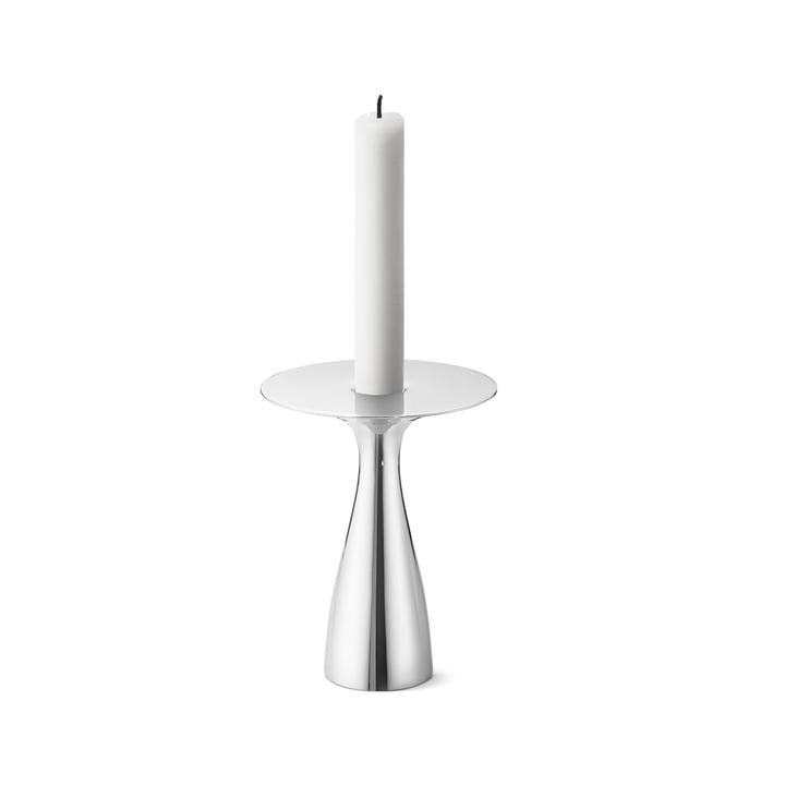 Alfredo Candleholder medium in stainless steel (set of 3) by George Jensen