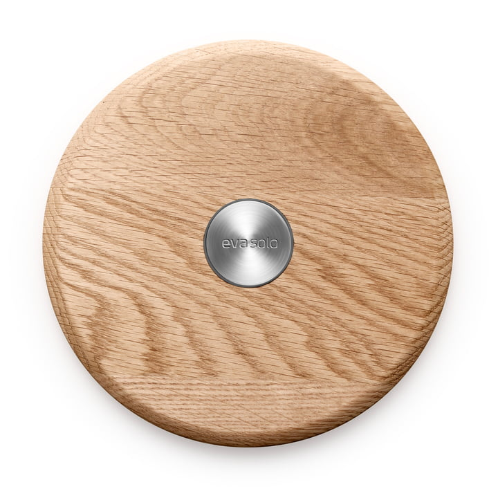 Nordic Kitchen Coaster (magnetic) by Eva Solo in stainless steel / oak