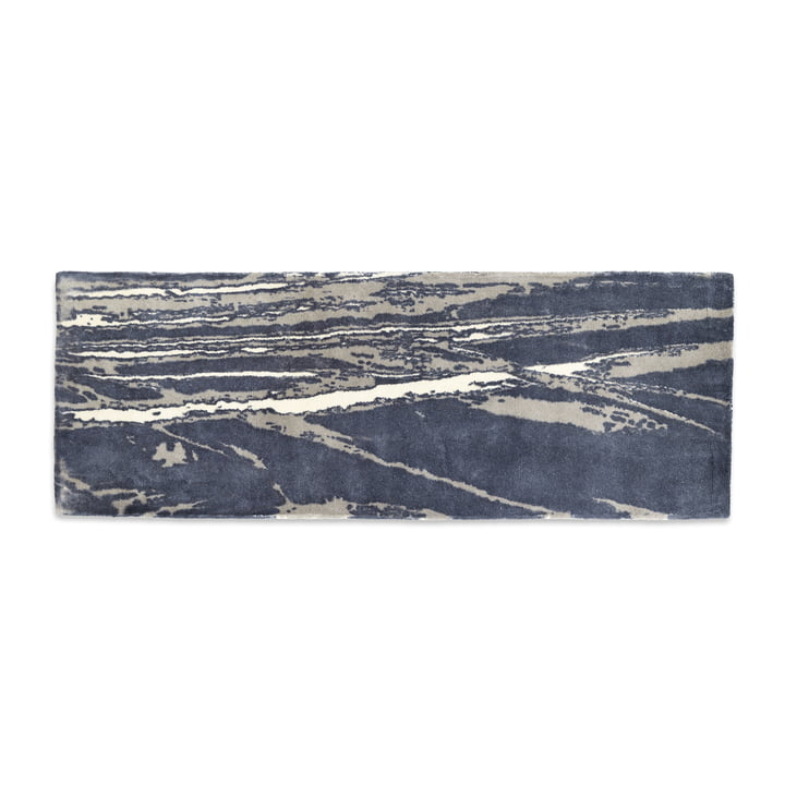 Mater - Info Rug IR01 Air Traffic, 200 x 77 cm, dark grey / taupe / ecru