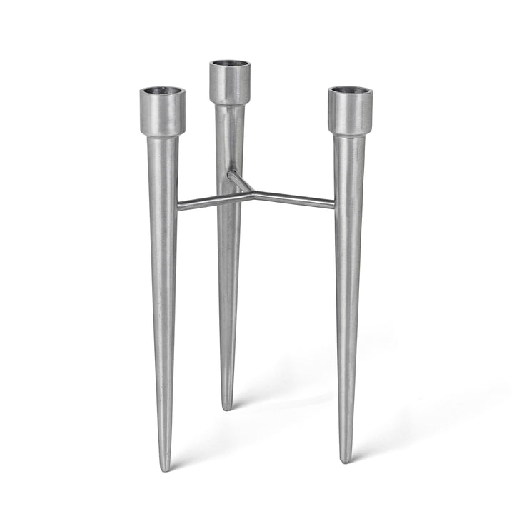 Mater - Spike Candle Holder, matt aluminium