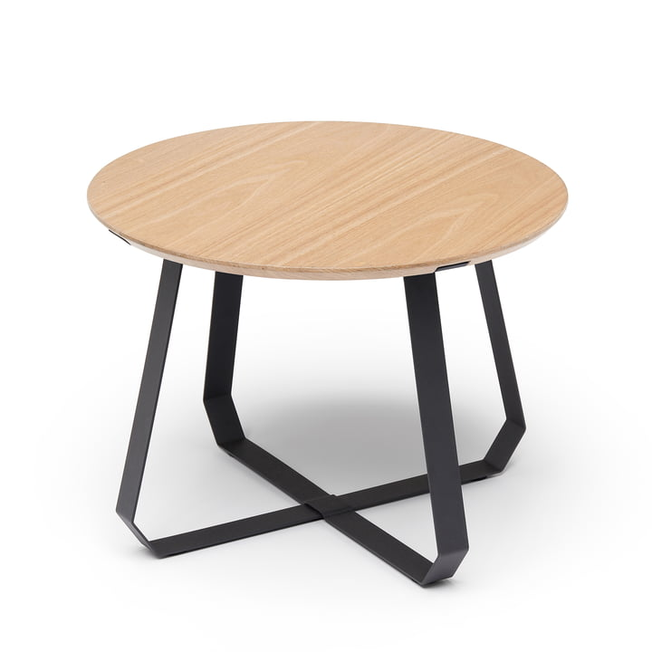 Shunan side table Ø 55 x H 40 cm, ash / black by Puik
