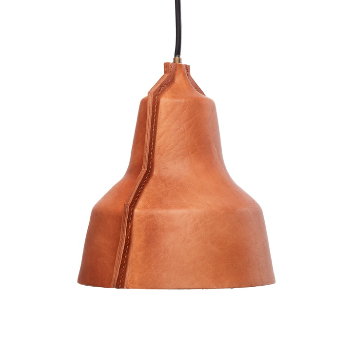 Lloyd pendant lamp from Puik - Ø 24 x H 25 cm in leather brown