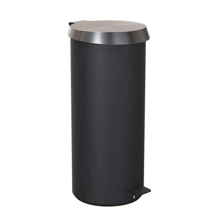 Pedal Bucket 550 in Black / Brushed Stainless Steel by Frost