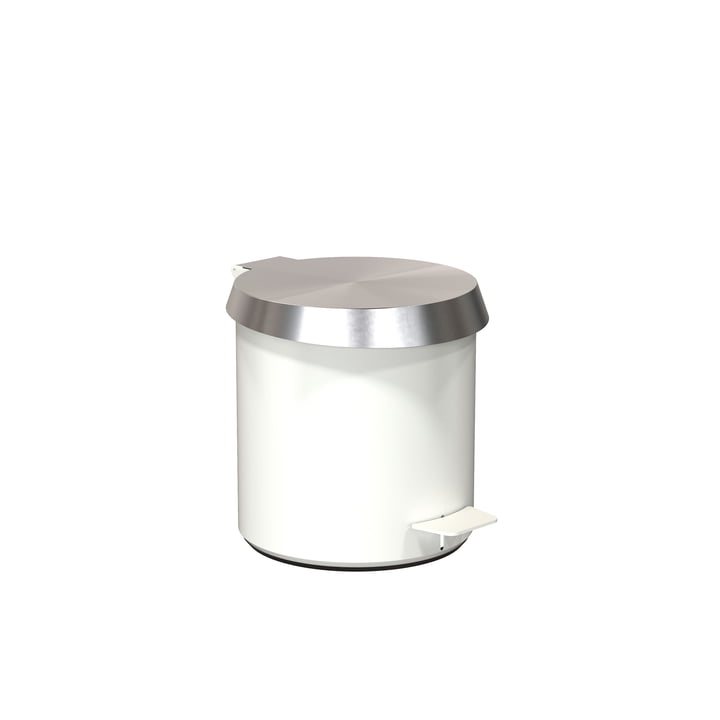 Pedal bucket 250 in White / Brushed Stainless Steel by Frost