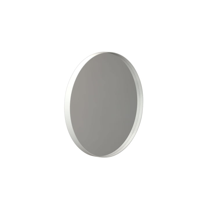 Round Unu wall mirror 4134, Ø 40 cm in white by Frost