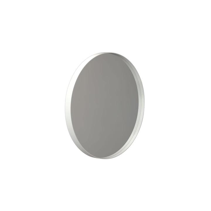 Round Unu wall mirror 4134, Ø 40 cm in white by Frost