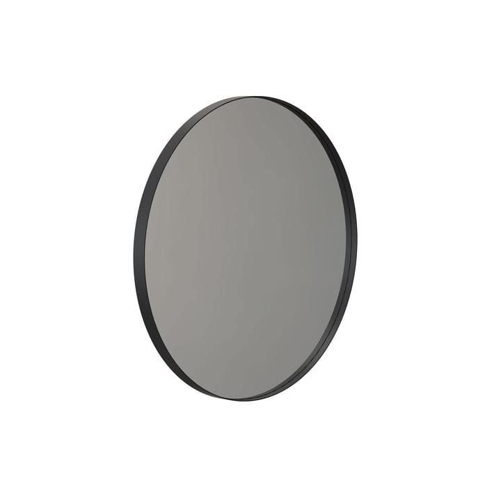 Round Unu wall mirror 4130, Ø 60 cm in black by Frost