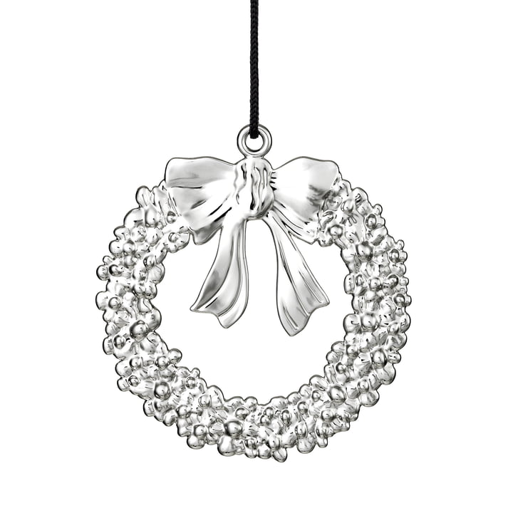 Christmas Wreath H 7 cm, Silver by Rosendahl