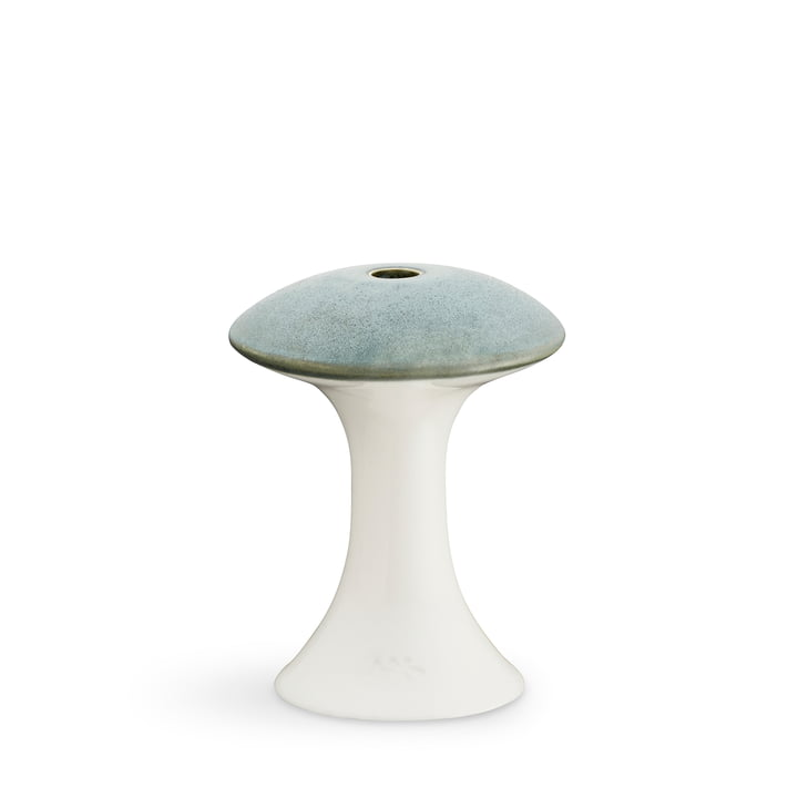 Kähler Design - Ahlmann candleholder, Ø 9 x H 11 cm, matt dark green