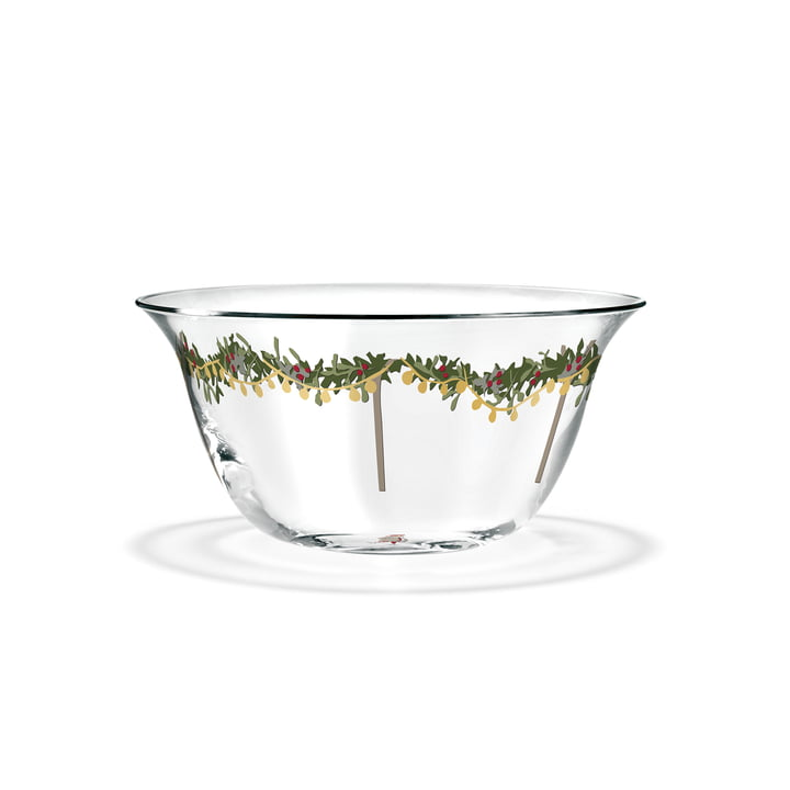Christmas Bowl Ø 13 cm, 2018 by Holmegaard in transparent