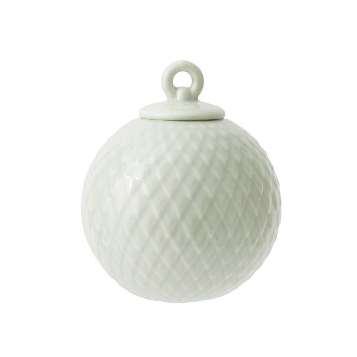 Rhombe decorative ball in light green by Lyngby Porcelæn