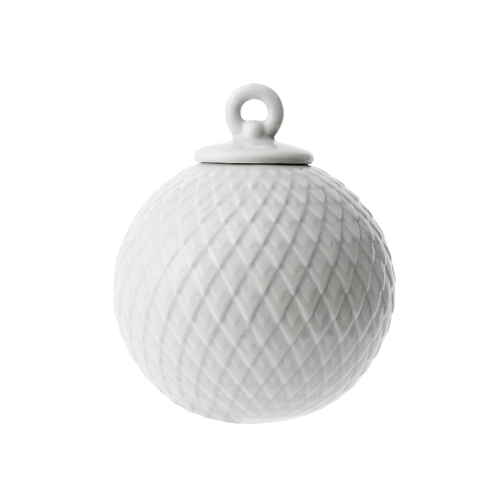 Rhombe decorative ball in grey from Lyngby Porcelæn