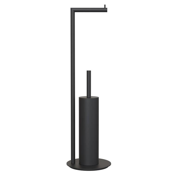 Nova 2 Toilet Paper Holder and Toilet Brush, Freestanding in Black
