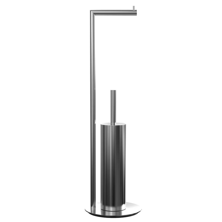 Nova 2 Toilet Paper Holder and Toilet Brush, Freestanding, Polished Stainless Steel by Frost