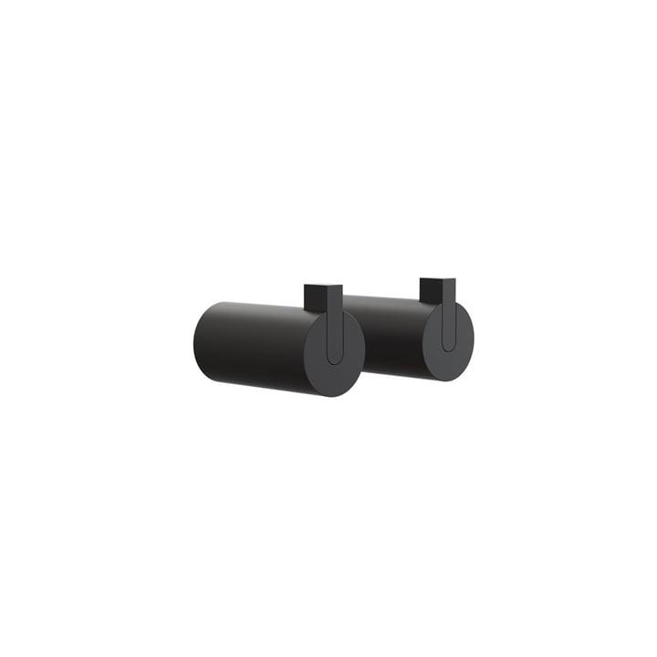Nova 2 Wall Hooks, Ø 16 x T 27 mm in Black (set of 2) by Frost