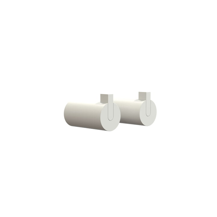 Nova 2 Wall Hooks, Ø 16 x T 27 mm in White (set of 2) by Frost