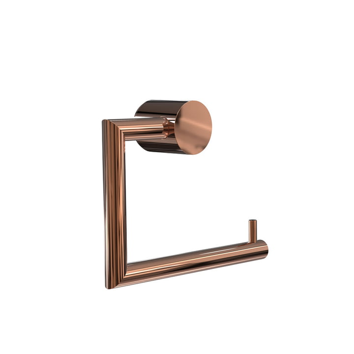 Nova 2 Toilet Roll Holder by Frost in Copper