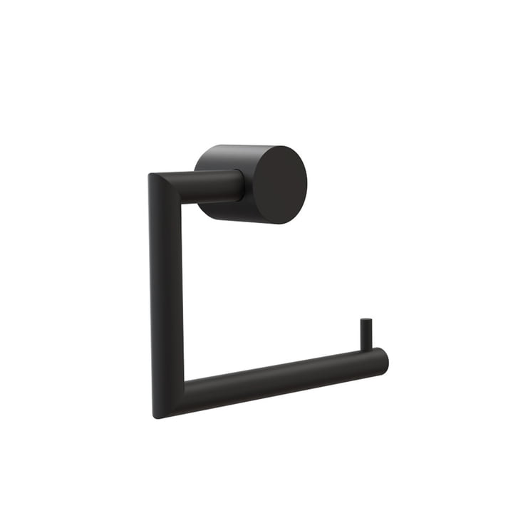 Nova 2 Toilet Roll Holder by Frost in Black