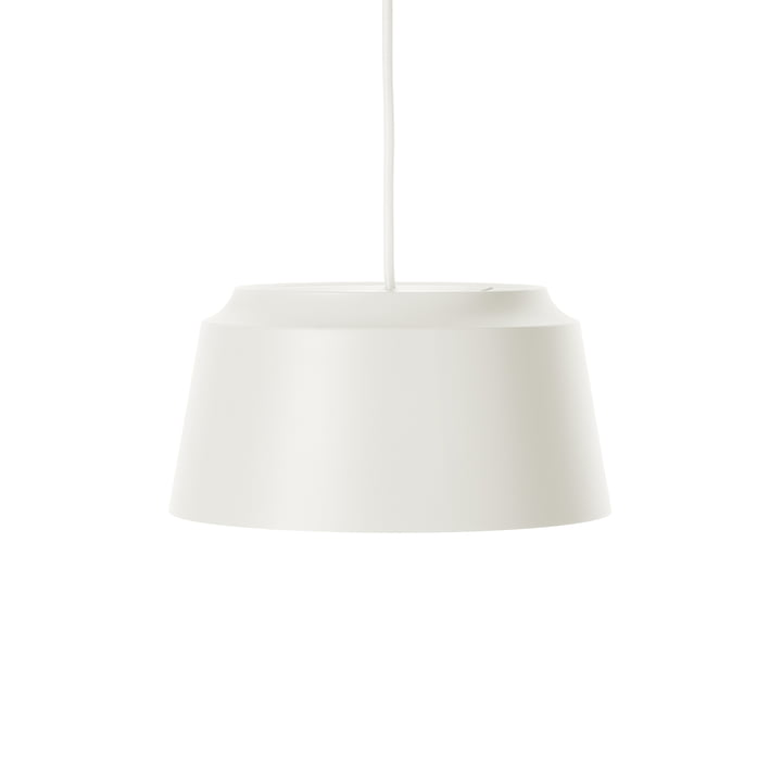 Groove Pendant Lamp from Puik, Ø 26 x H 13 cm in white