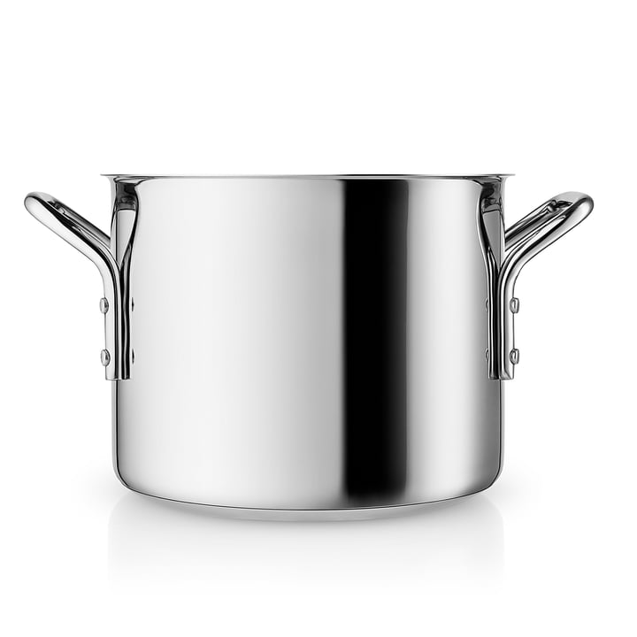 Stainless Steel Pot  3.6 l in stainless steel / black by Eva Trio
