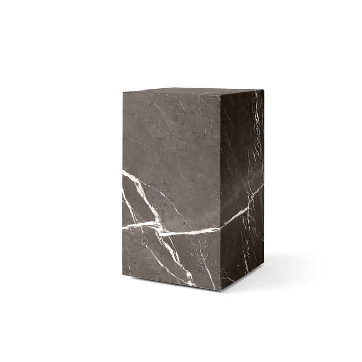 Plinth Tall side table from Menu in grey / brown
