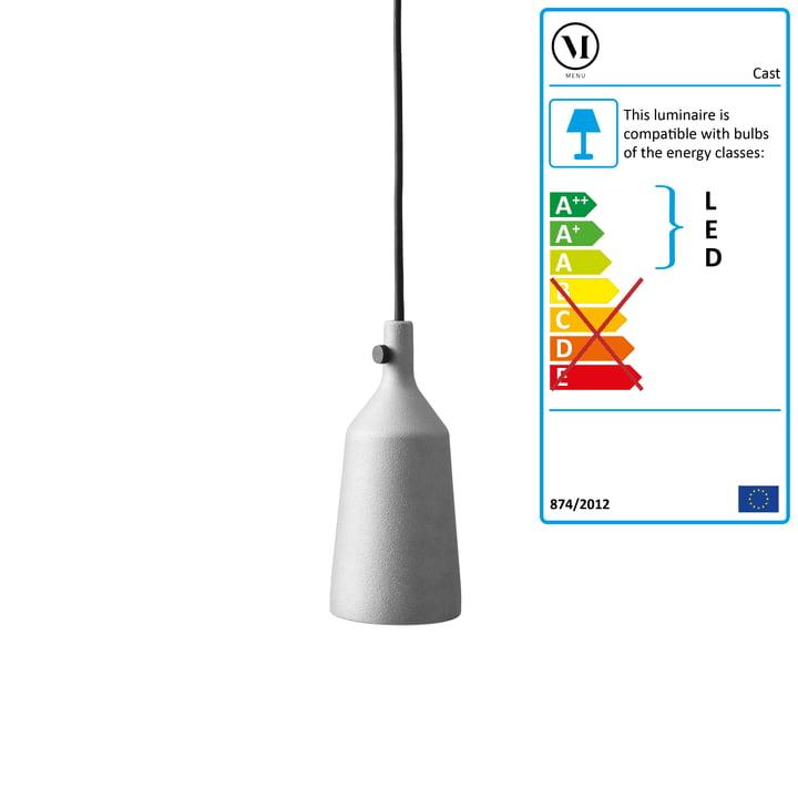 Cast pendant luminaire from Menu in aluminium / Form 3