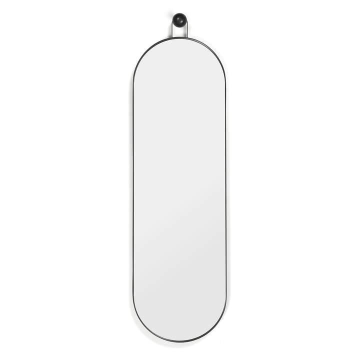 Poise Oval Mirror 98,9 x 28,3 cm by ferm Living in black