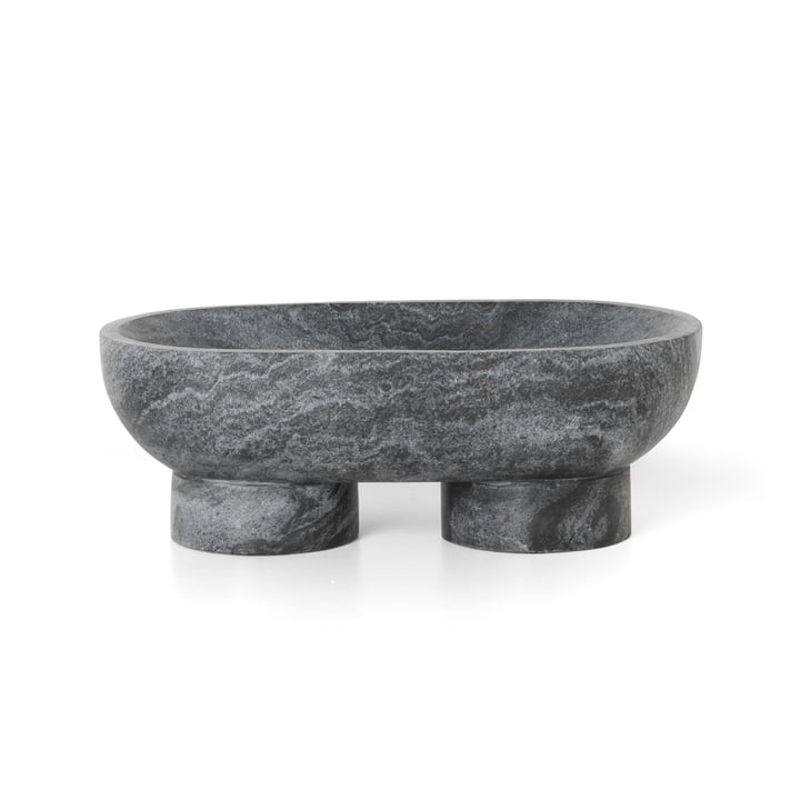 Alza Marble Bowl by ferm living in black
