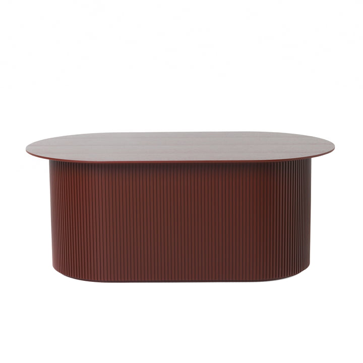 Podia Coffee Table from ferm Living in Red Brown