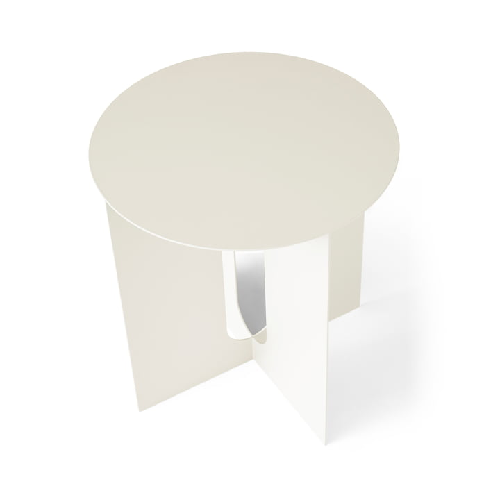 Androgynous side table Base from Menu in ivory