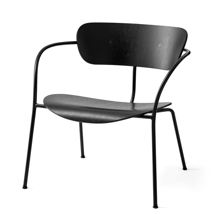 Pavilion Lounge Chair AV 5 by &tradition in black / black lacquered oak